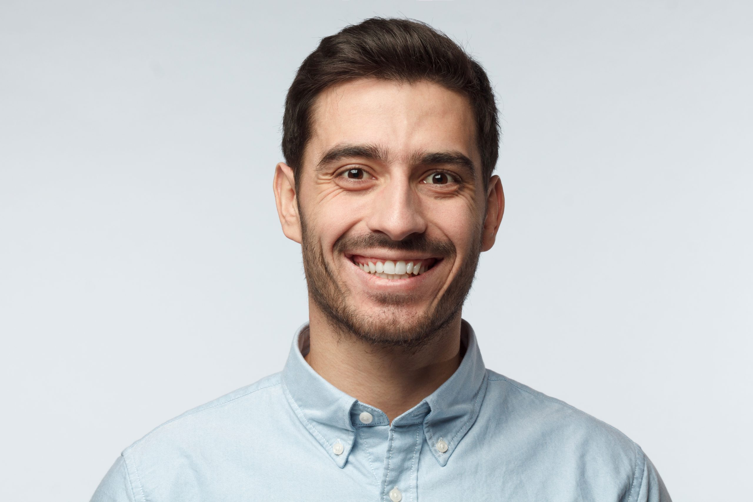 Studio,Headshot,Of,Young,Happy,European,Caucasian,Man,Pictured,Isolated